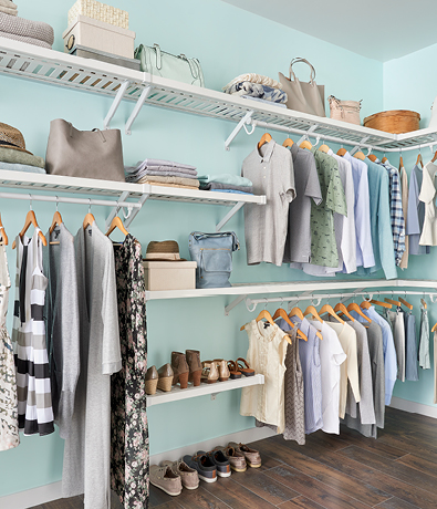 ClosetMaid ExpressShelf Ventilated Wood Shelving in White | Home Organization