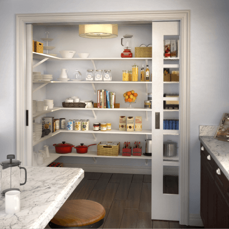 ClosetMaid ExpressShelf Sold Wood Shelving | Pantry