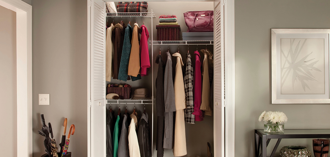 ClosetMaid Fixed Mount Wire Shelving in White