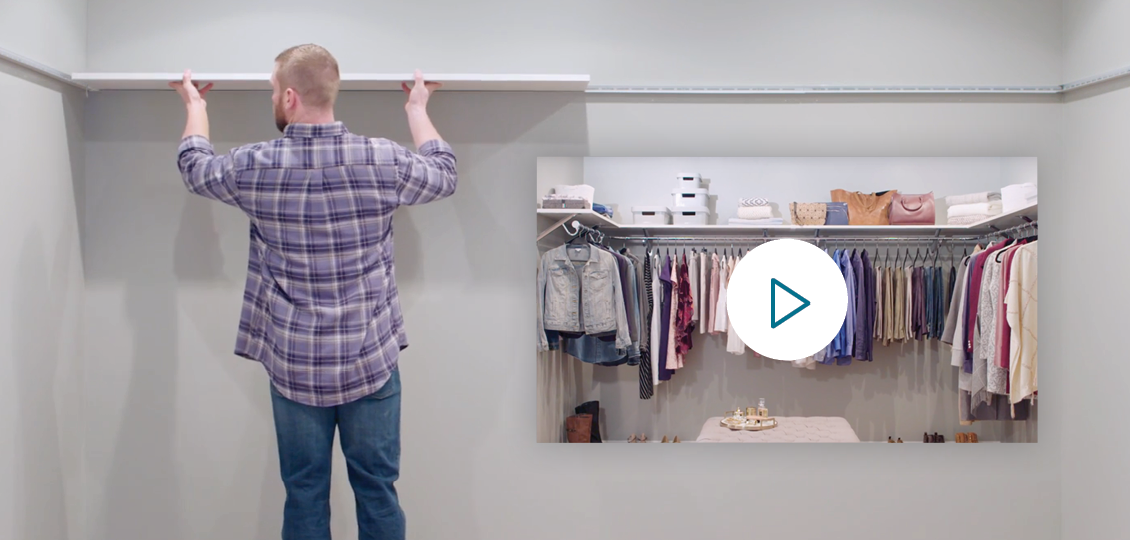 ClosetMaid ExpressShelf Solid Wood Installation Video