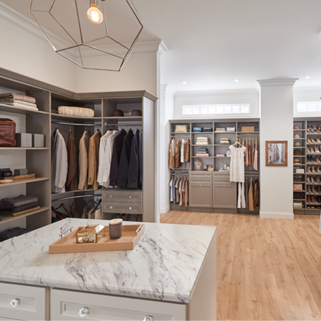 ClosetMaid MasterSuite 27th Avenue in Timeless Taupe Custom Closet
