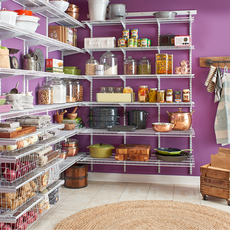 ClosetMaid ShelfTrack Wire Shelving Close Mesh Pantry
