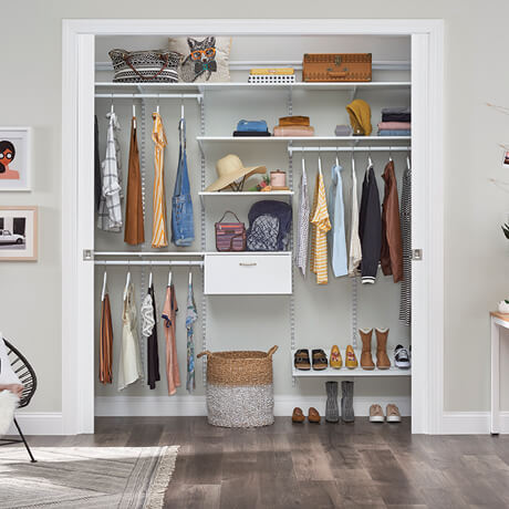ClosetMaid Shelftrack Evo 8ft Walk In Traditional Fronts